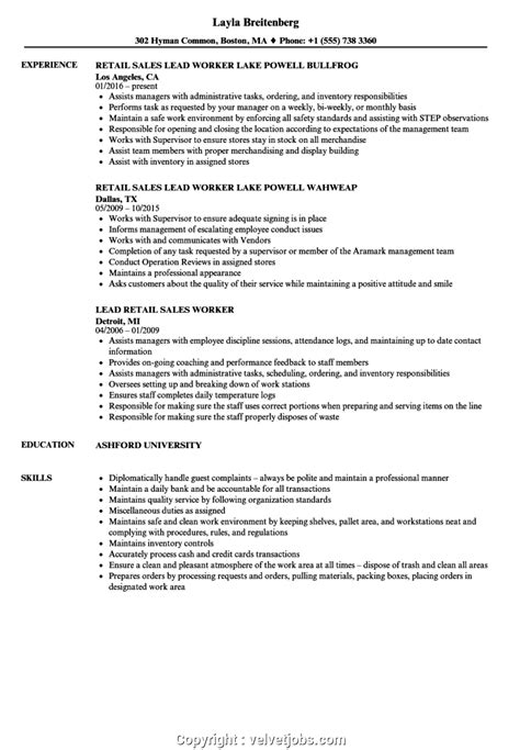 Resume For Retail by Professional Retail Worker Resume Retail Worker Resume