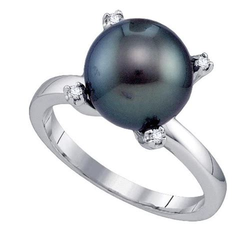 black pearl engagement rings pearl with diamond wedding rings pearl rings wedding rings