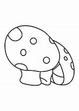 Coloring Mushrooms Turnip Popular sketch template