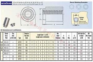 Smt    Solderable Standoff Nuts - M3 X 3mm