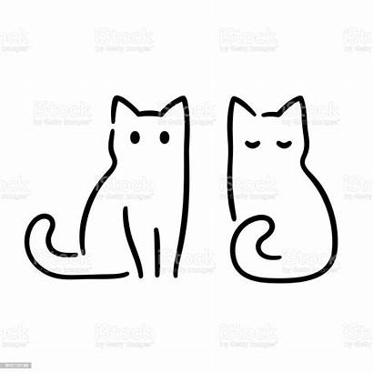 Cat Drawing Minimal Katze Zeichnen Drawings Simple