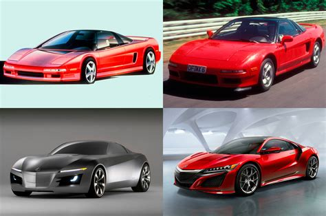 acura nsx model years a rocky history acura nsx through the years motor trend