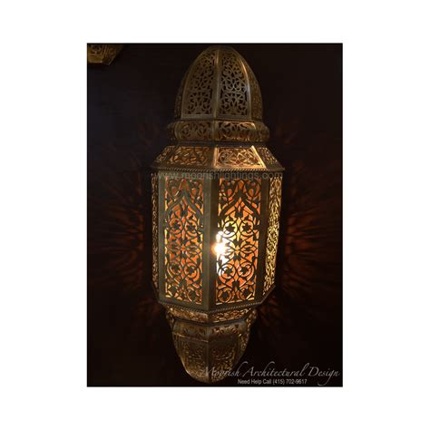 ethnic lighting rustic wall sconce punched metal sconce
