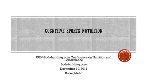 cognitive sports nutrition