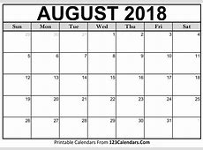 Free 5+ August 2018 Calendar Printable Template Source