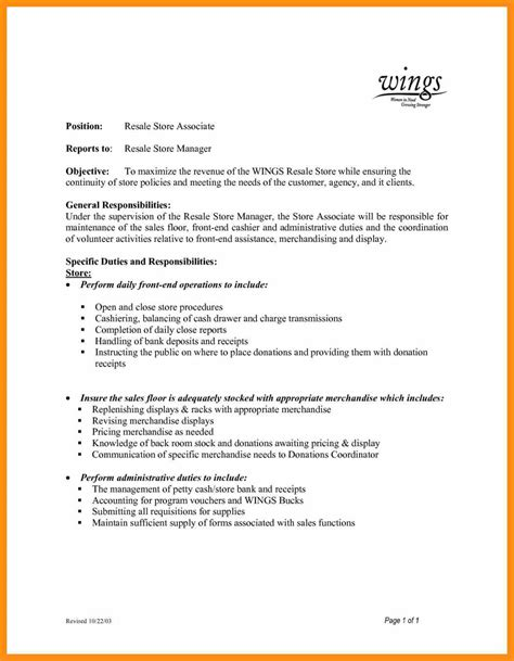 How To Write A Sales Resume by Walmart Sales Associate Resume Memo Exle