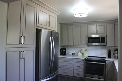 kitchens with grey cabinets peterborough family and their painted grey kitchen 6625