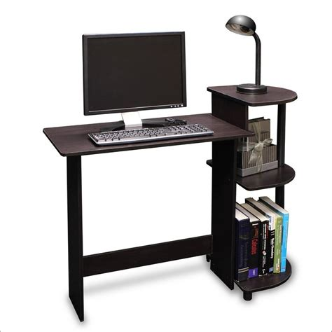 narrow computer desk with shelves furniture modern narrow computer desk narrow oak computer