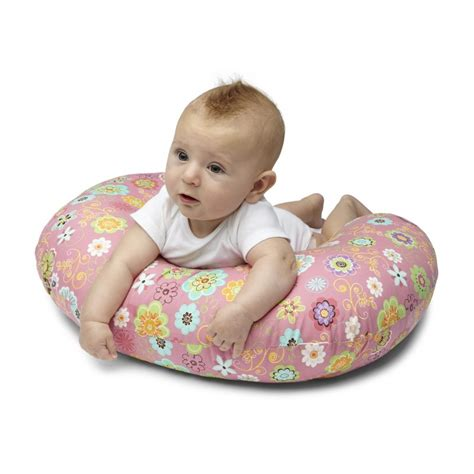 chicco boppy pillow cotton slipcover pink chicco