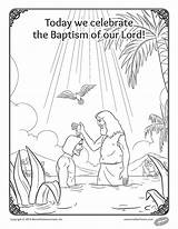 Baptism Coloring Lord Feast Pages Uploaded sketch template