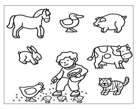 disegni animali della fattoria da stampare pagina