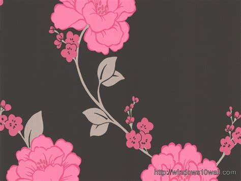 magnificence llb shantung pink black floral hd wallpaper