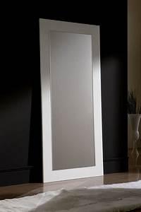 Grand Miroir Design : grand miroir mural blanc laque ~ Teatrodelosmanantiales.com Idées de Décoration