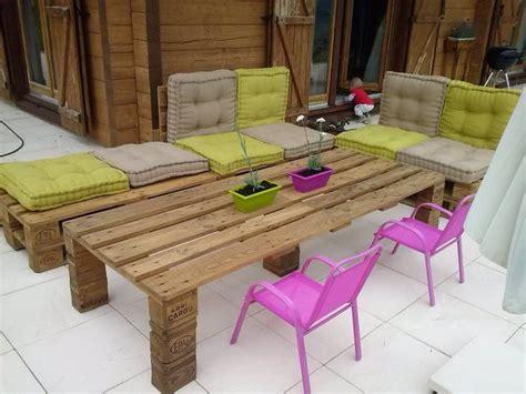 salon de jardin palette dunlopillo salon de jardin en palettes guide astuces