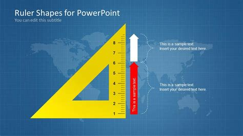 ruler shapes  powerpoint slidemodel