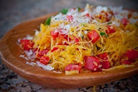 spaghetti squash recipie microwave spaghetti squash with tomatoes basil steamy kitchen recipes