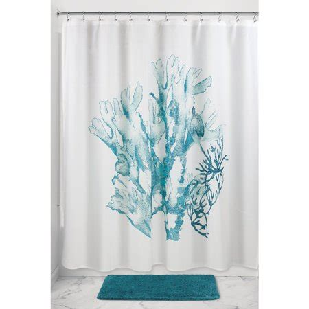 coral shower curtain interdesign coral fabric shower curtain 72 quot x 72 quot