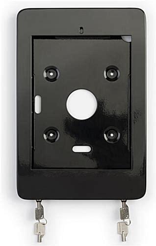 wall mount ipad pro pos kiosk rotating lockable housing