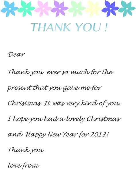 Thank You Letter Template Thank You Letter Template For