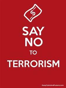 SAY NO TO TERRORISM Poster