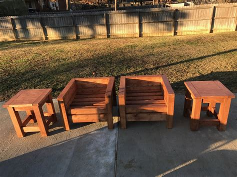 modern outdoor chairs  tables ana white