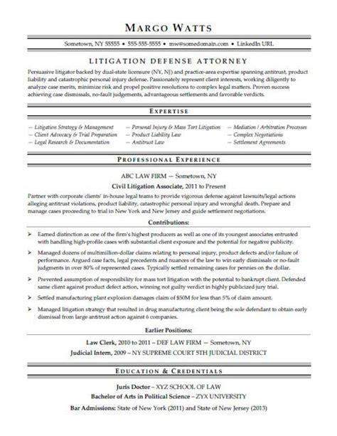 Attorney Resume Sample Monstercom