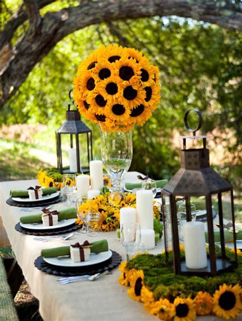 idees deco table jardin