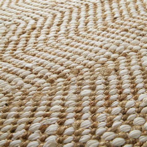 tapis en toile de jute beige 160 x 230 cm barcelone