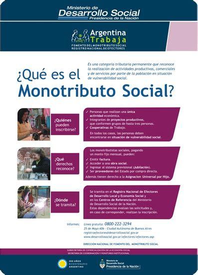 Fotocopia de los 6 últimos pagos del monotributo. Beneficios en el Monotributo Social 2015. | Argentina Live