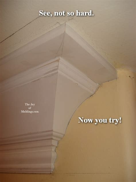 How to Return a Crown Molding to the Wall   The Joy of
