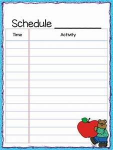 class schedule freebie the teacher39s cauldron With preschool classroom schedule template