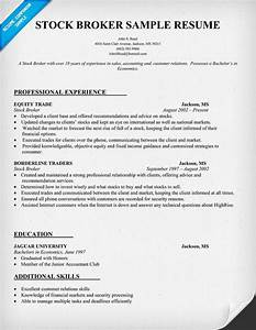 Cover Resume Letter Examples Stock Broker Resume Sample Job Resume Samples