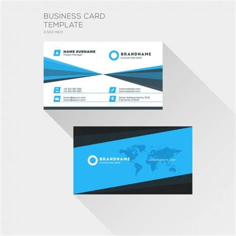 corporate business card print template personal visiting