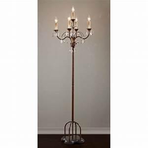candelabra chandelier style floor lamp in dark metal with With 6 light candelabra floor lamp