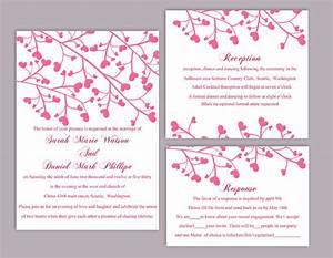 diy wedding invitation template set editable word file With free printable heart wedding invitations