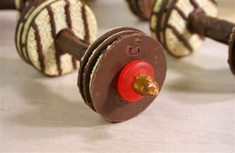 chocolate barbell cookies tip junkie