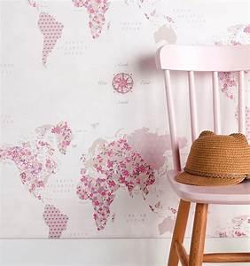 Tapete Weltkarte Kinderzimmer : caselio 39 pretty lili 39 tapete 39 weltkarte 39 pink gelb mint bei fantasyroom online kaufen ~ Sanjose-hotels-ca.com Haus und Dekorationen