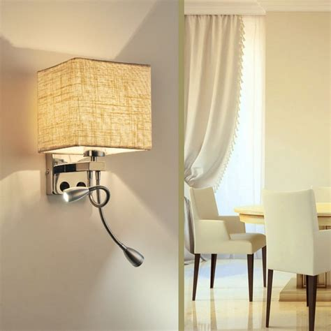 simple creative fabric wall sconce band switch led wall