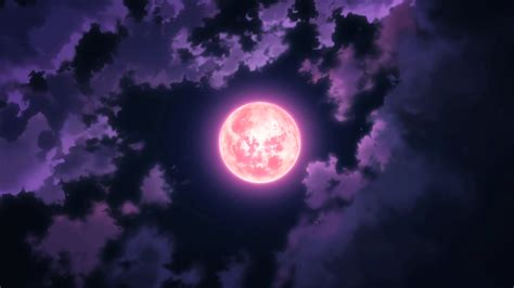 Moon Anime Wallpaper - anime moon sky clouds wallpaper no