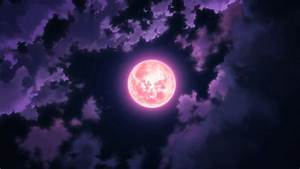 #anime, #Moon, #sky, #clouds, #night | Wallpaper No ...