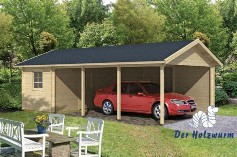 Carport Ever Mit Geräteraum 770x430cm Garage Holz