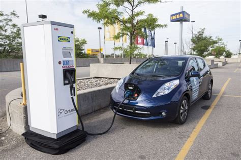 Electric Car Charging Stations by Ontario Plugs Electric Car Plan With Network Of Charging
