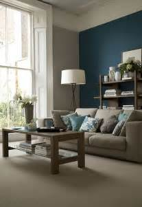 livingroom paint 26 cool brown and blue living room designs digsdigs