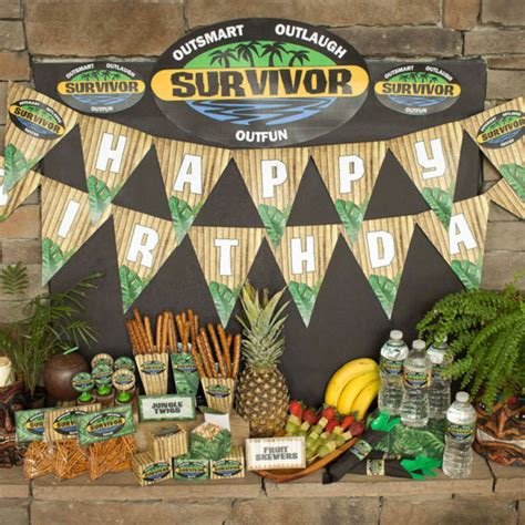 Survivor party printables | Chica and Jo