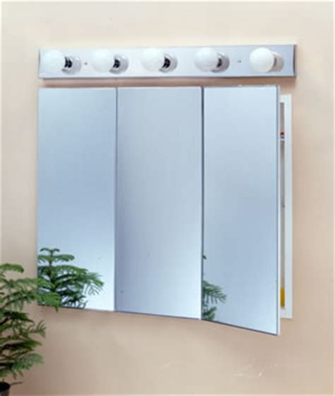 basco incorporated tri view three door medicine cabinets