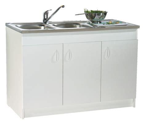 meuble cuisine melamine blanc meuble sous évier 3 portes mélaminé blanc 120x60