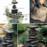 how to build a water feature 19 Handmade Cheap Garden Decor Ideas To Upgrade Garden