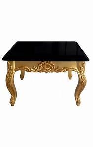 Table Basse Carrée En Bois : table basse carr e de style baroque en bois dor avec ~ Teatrodelosmanantiales.com Idées de Décoration