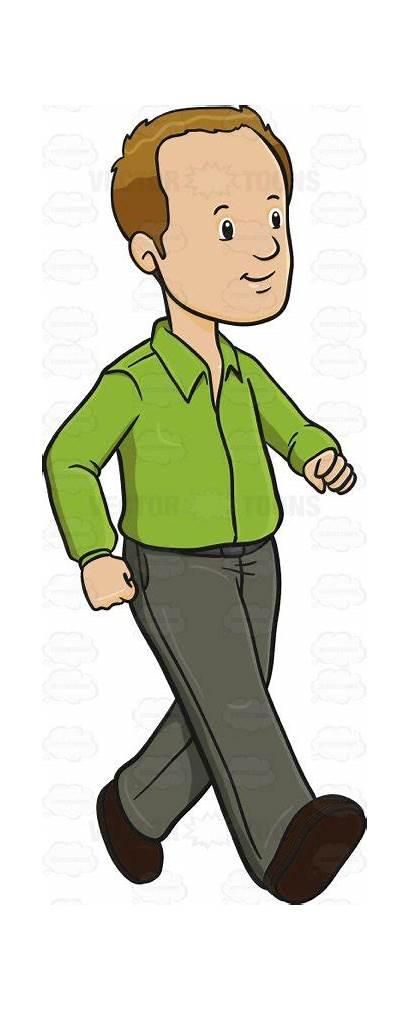 Walking Clipart Shirt Adult Cartoon Lime Human