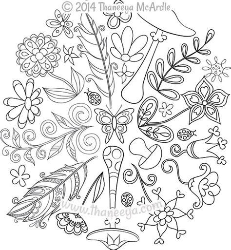 nature mandalas coloring book  thaneeya mcardle